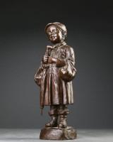 Elna Borch 1869-1950. Figur af bronze