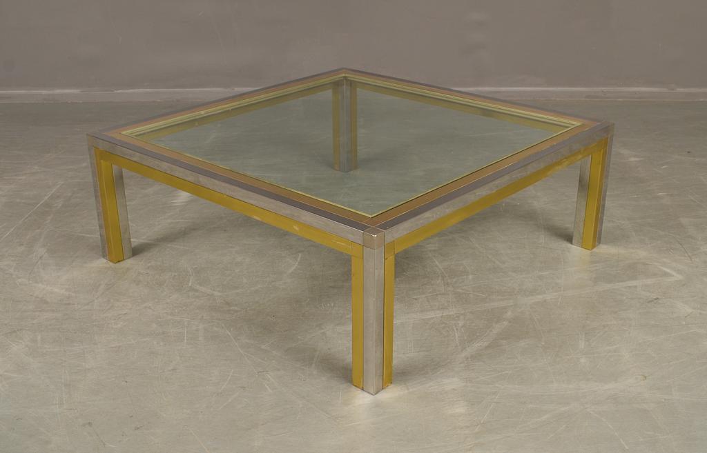 soffbord glas mässing
