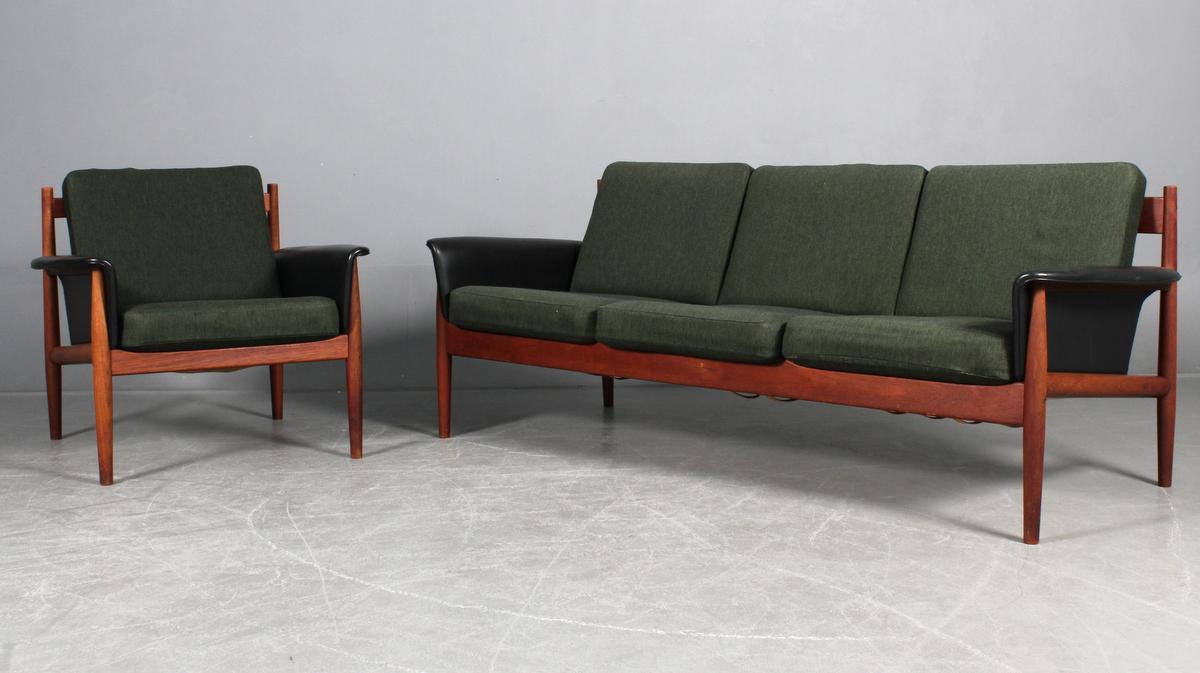 Auktionstipset - Finn Juhl. Tre-personers sofa samt lænestol, model ...