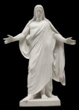 Thorvaldsen's Christ figure, painted plaster
