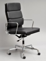 Charles Eames. Office chair, model EA-219, black leather, from 2013