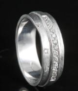 18kt handmade diamond ring approx. 0.16ct