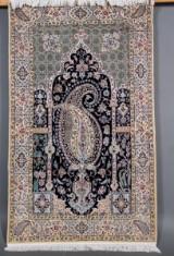 Persisk Nain m/ Silke, 6 la, 215 x 130 cm.