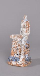 Jeff Ibbo, stentøj, skulptur, siddende nøgen kvinde