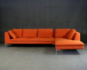 Antonio Citterio Zweiteiliges Sofa Charles Für Bb Italia 2