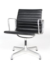 Charles Eames. Arm chair, model EA-108 in black leather