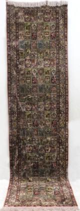 Runner, hand-knotted silk carpet, China, 78 x 303