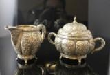 Flødekande og sukkerskål i barok stil af 835 sølv (2)