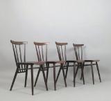 Set Stühle / Sprossenstühle der 1950/60er Jahre im Stile von Tapiovaara (4)