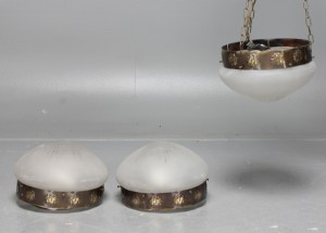 Vägglampor Jugend : Vara taklampor plafonder samt en pendel jugend stil