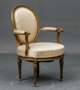 A Danish Louis XVI medallion-back armchair, attributed to C. F. Harsdorff, c. 1780