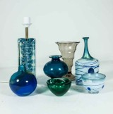 Samling glas, bl.a Bertil Vallien (7)