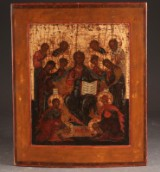 Russian icon depicting extended Deesis, 17/18th century