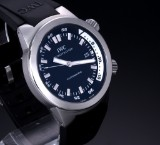 IWC 'Aquatimer'. Men's watch, steel with black dial with date, c. 2004