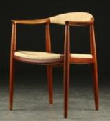 Hans J. Wegner. Armchair, teak, 'The Chair', Johannes Hansen