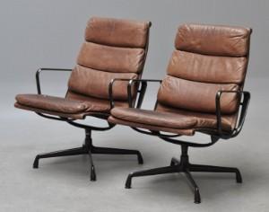 ware 3195161 charles eames paar soft pad sessel modell ea 215 2. Black Bedroom Furniture Sets. Home Design Ideas