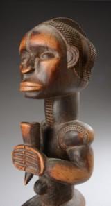 Fang figur af udskåret træ, Gabon, Afrika, 1900-tallets midte.