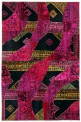 Persisk Patchwork tæppe, 289 x 191 cm.