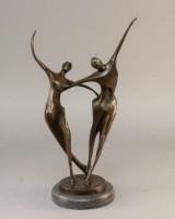 Abstrakt figur af patineret bronze