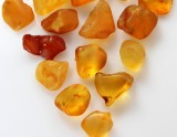 Collection of Danish amber pieces, 1160 g.