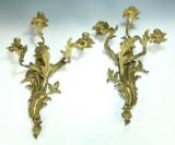 Par bronzevæglysestager, Frankrig, ca. 1800-tallet (2)