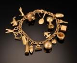 Charmsarmlænke af guld - 26,9 gram