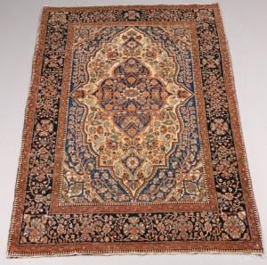 antiker persischer keshan mohtasham teppich 203x135 cm. Black Bedroom Furniture Sets. Home Design Ideas