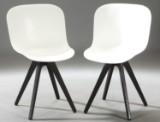 Verge spisebordsstol med ben af olieret wengéfarvet/sort egetræ (2)