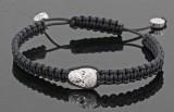 18kt hand woven diamond skull bracelet approx. 0.25 ct