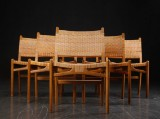 Hans J. Wegner. A set of six chairs, oak, model CH-31 (6)
