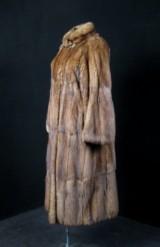 Sable coat, cognac-coloured, size approx. 42/44