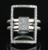 Diamond ring in 18kt approx. 0.81ct