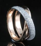 18kt diamond ring approx. 0.39ct