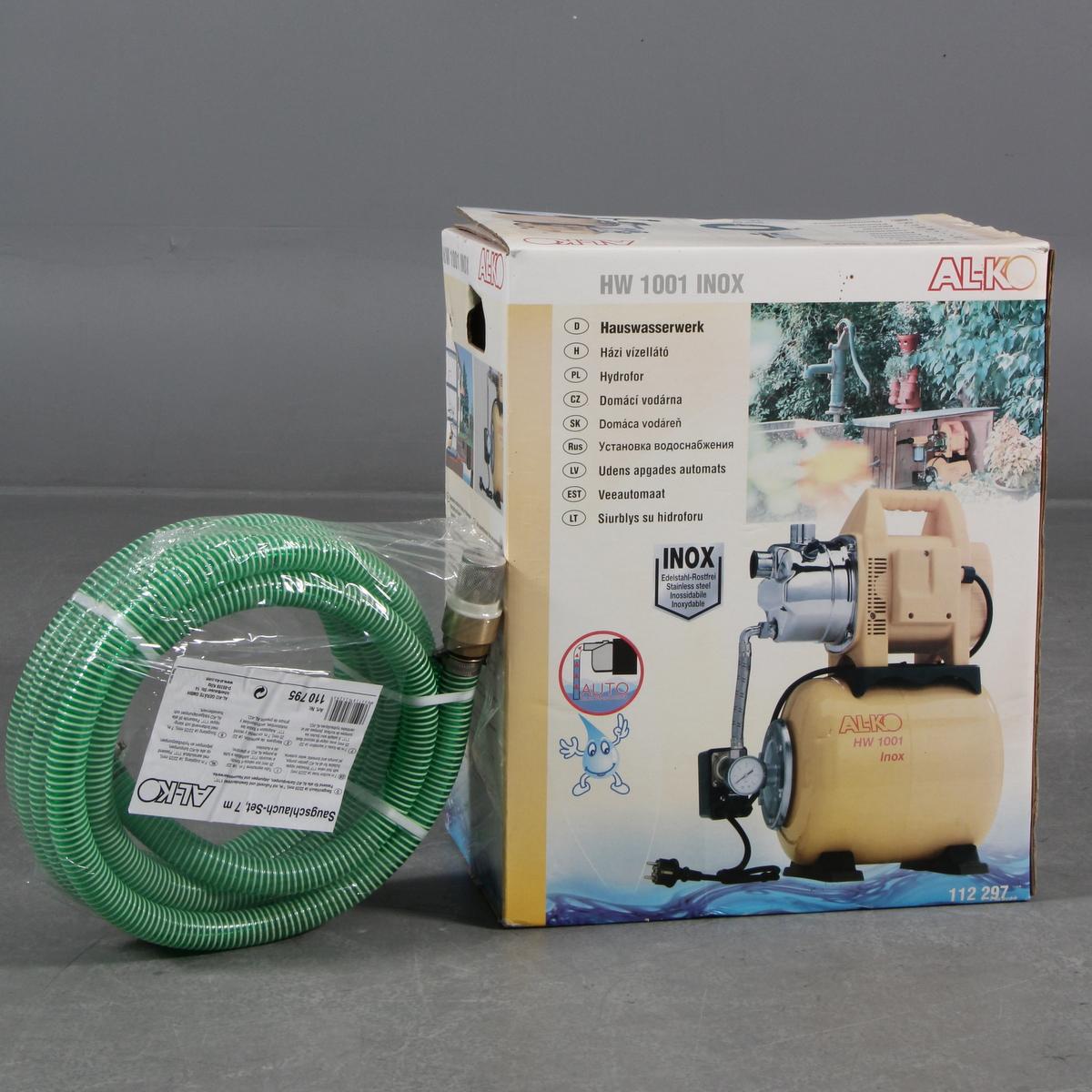 AL-KO vandpumpesystem - AL-KO vandpumpesystem. Slange medfølger. Original emballage. Dele kan mangle. Lauritz.com garanterer ikke for varens funktion