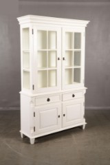 Geromar glass cabinet and corner cabinet, antique style (2)