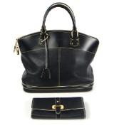 Louis Vuitton. Bag and waller, model Lockit Suhali Noir (2)