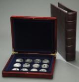 Danmark. Æske med 12 sølvmønter/medaljer