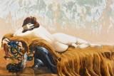 Okänd konstnär, 2000-tal. Olja på duk. 150 x 220 cm.