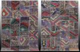 Mattor, ett par, Carpet Patchwork, design Morad, 247 x 171 samt 245 x 170 (2)