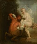 Unknown artist. Centaur Nessus and Deianira