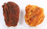 Danish amber, unpolished pieces including pale milk amber, weight 510 g. (10)