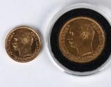 Danmark. Frederik VII, 10 og 20 kr. GULD 1908  - H. 1 og 2 (2)