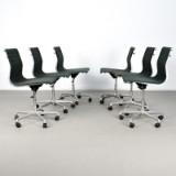 Charles & Ray Eames, Set Bürostühle Modell EA 117 Alu Chair für ICF (6)