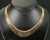 Gold necklace, 14 kt., 41.9 g