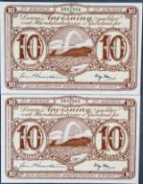 Grønland 2x10 kr (1953)