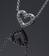 Ole Lynggaard. Heart necklace, 18 kt. white gold, brilliant-cut diamonds