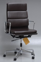 Charles Eames. Office chair, model EA 219, dark-brown leather