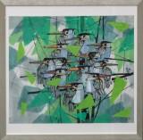 Li Fuyuan. Ink on paper, kompostion with birds