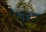 Thorald Læsøe. Landscape from Northern Italy