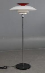 Poul Henningsen PH-80 gulvlampe. Med ny overskærm.
